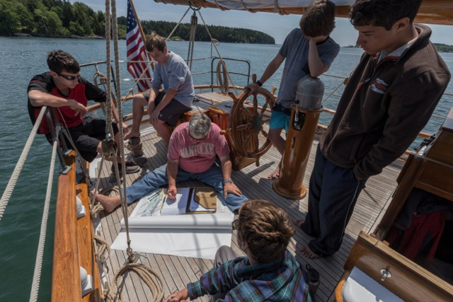 Learning to navigate on board Fritha in 2015.