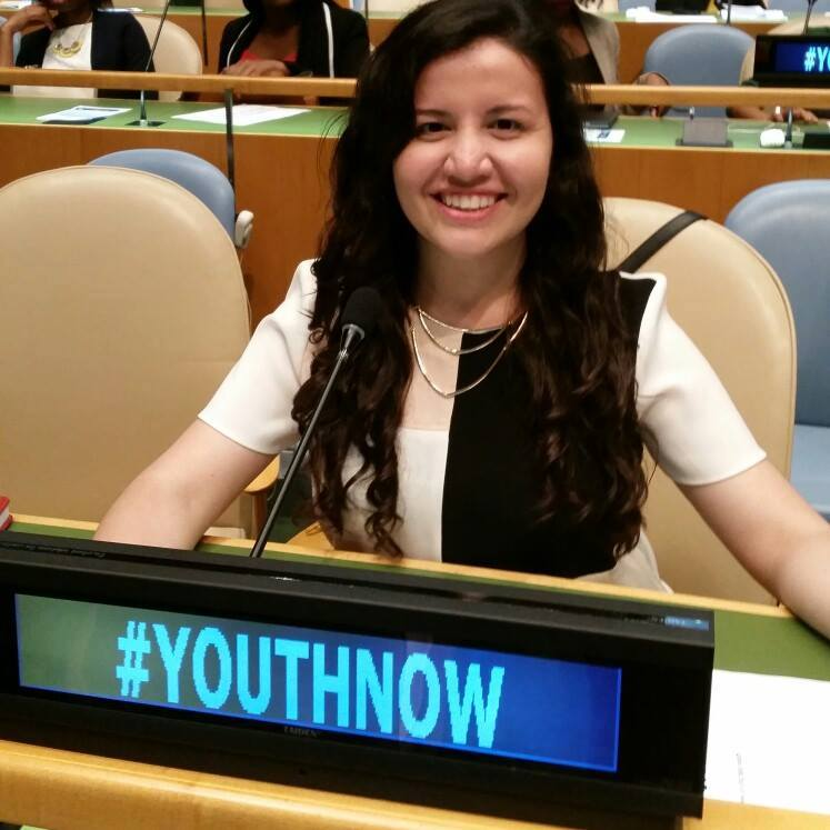KAREN LÓPEZ AS THE MEXICAN REPRESENTATIVE AT THE HIGH-LEVEL EVENT OF THE GENERAL ASSEMBLY MARKING THE 20TH ANNIVERSARY OF THE WORLD PROGRAMME OF ACTION FOR YOUTH.