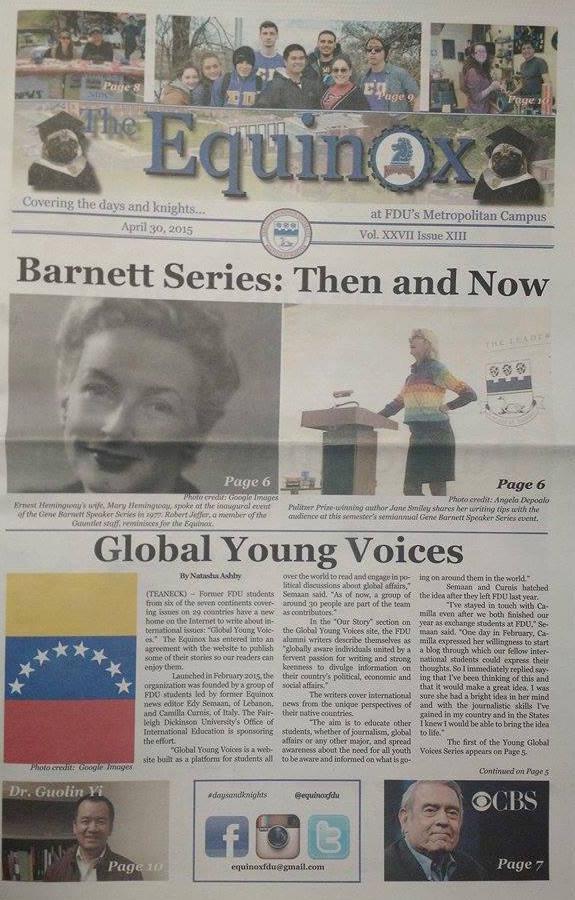 THE EQUINOX NEWSPAPER, USA