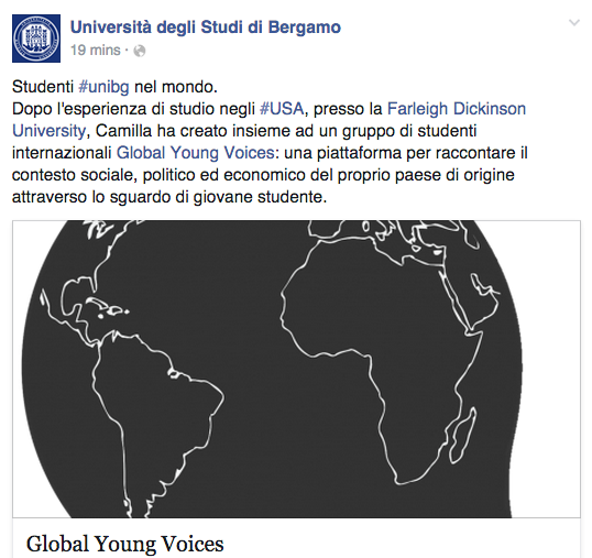 UNIVERSITÁ DEGLI STUDI DI BERGAMO