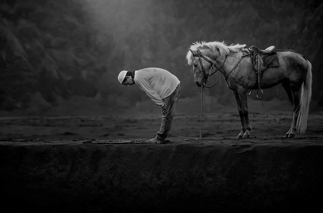 Photograph taken in Bromo, Indonesia.