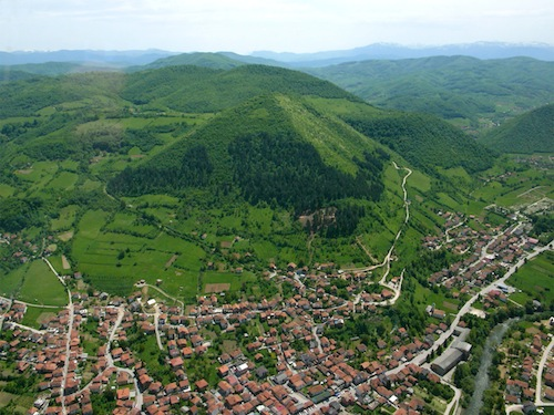 Landscape of the city of Visoko in Bosnia. Photo credit: Whereongoogleearth.net