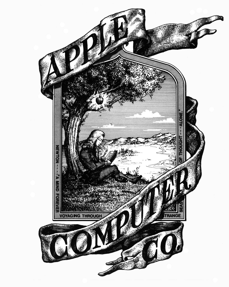 Apple's very first logo. Photo credit: Architecturendesign.net