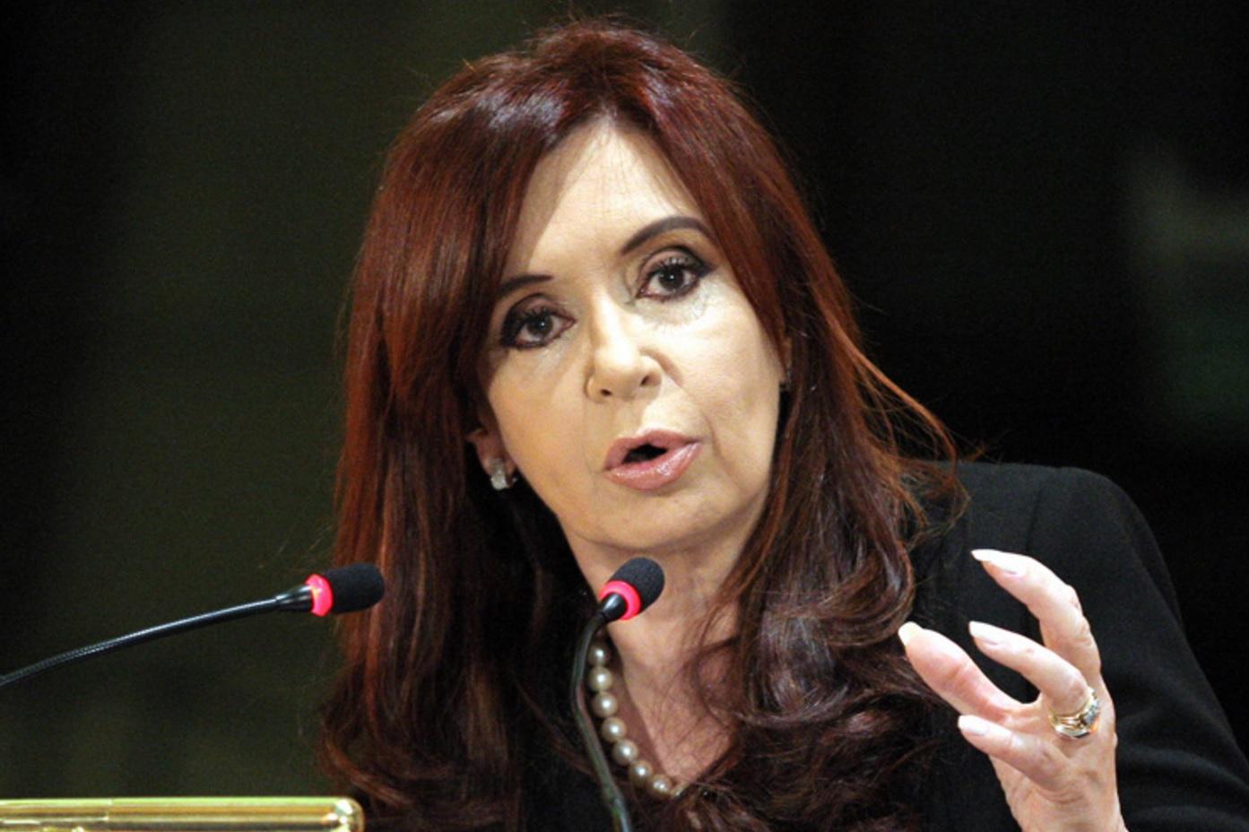 Former Argentina President Cristina Kirchner. Credit:Tn.com.ar