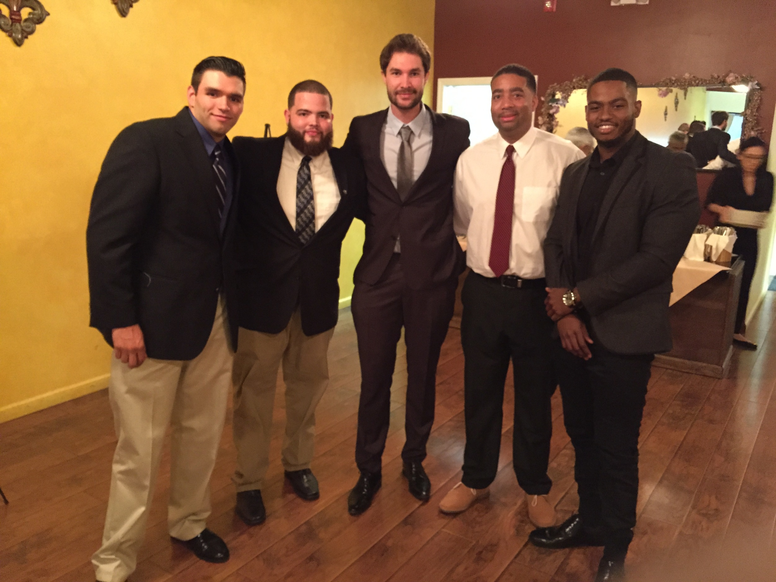 Alex Alonso, Luis Flores, Julien Philippe, Kevin Jackson, and Tyler Hardy at Casual Habana for a Charity Dinner.JPG