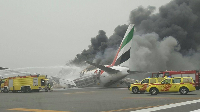 Scene of the plane crash. Credit:  Al Arabiya