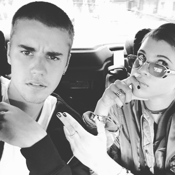 Viral photo posted on Bieber's now-deactivated Instagram account showing him with his girlfriend, Sophia Richie. Credit: Justin Bieber official Instagram account Source:  E! Online