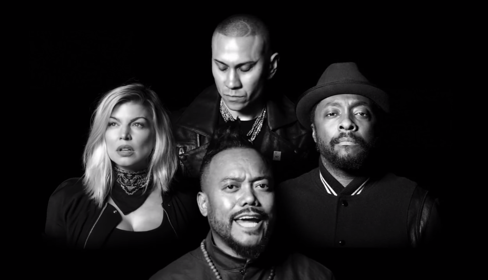 Still from the new music video showing Black Eyed Peas. Credit:  YouTube