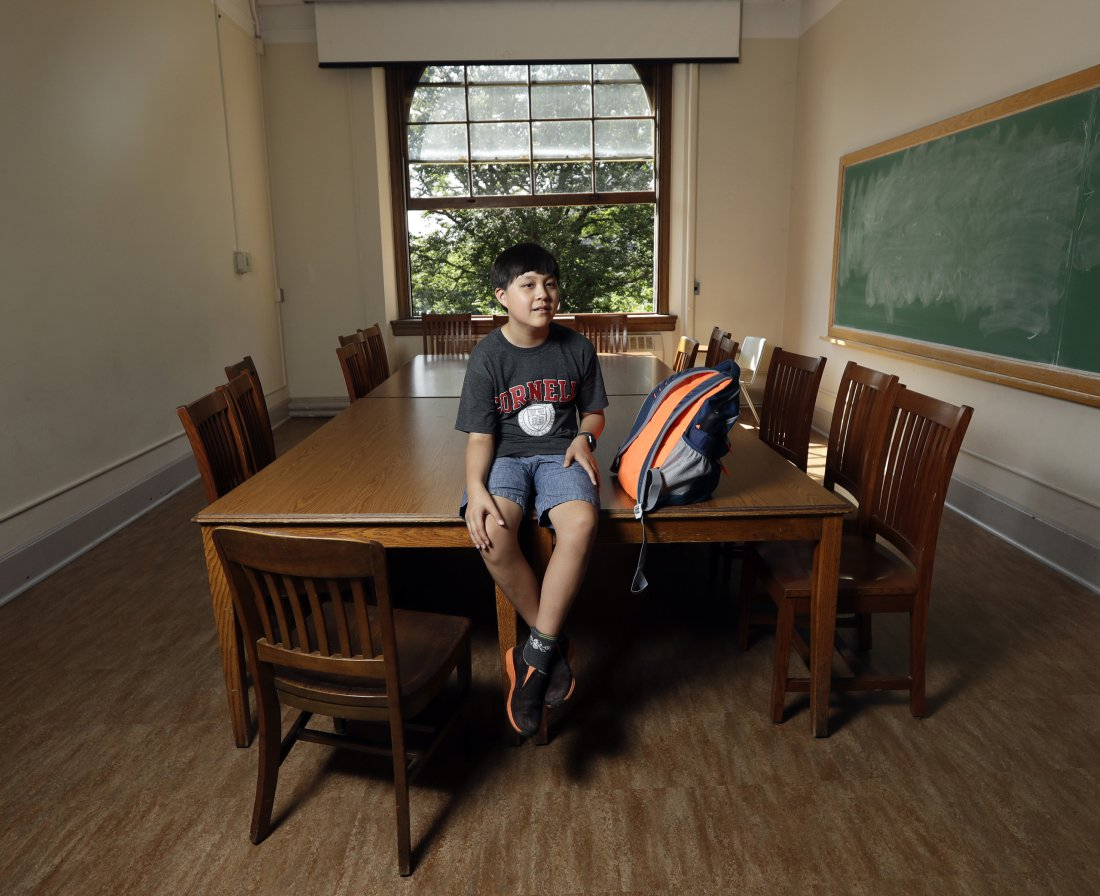 Jeremy Shuler on Cornell University campus in Ithaca, N.Y.Credit: Mike Groll/AP Source: Time