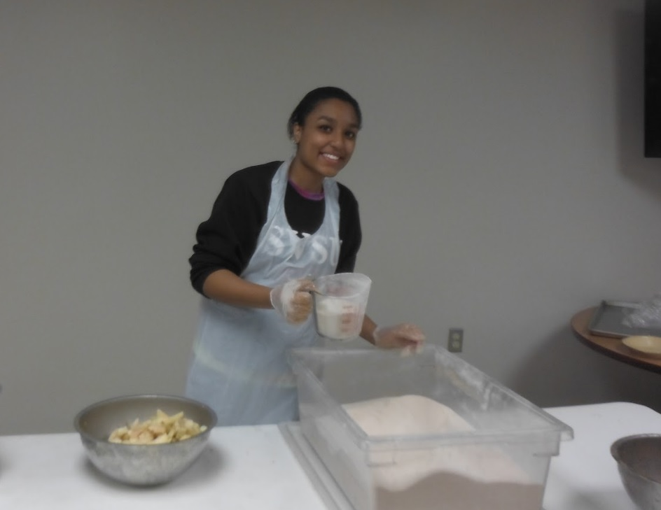 Me volunteering at the Saginaw Rescue Mission 2014