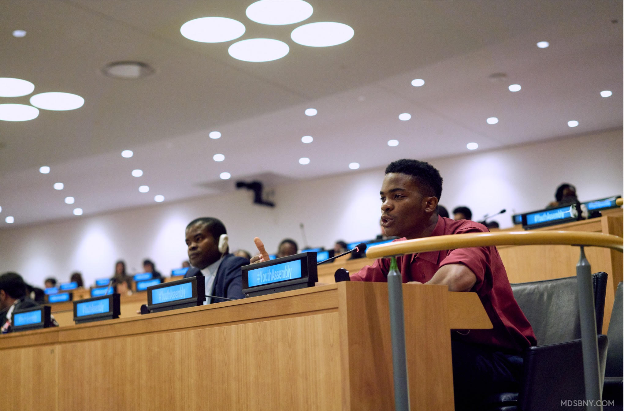 Kennedy Ekezie speaking at the Youth Assembly at the United Nations Credit: Mdsbny.com