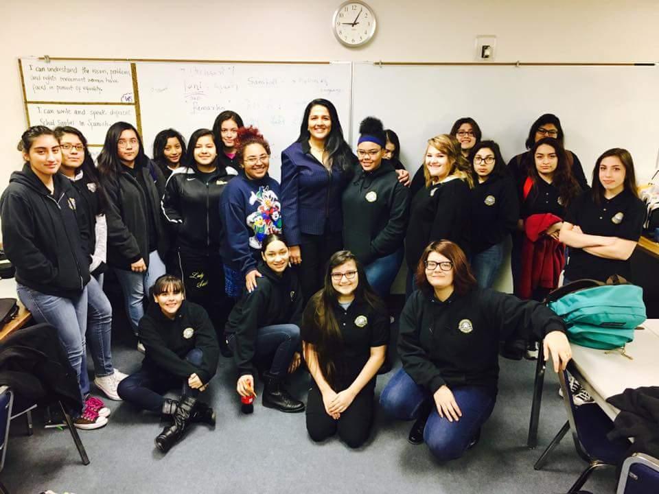 Mentoring the Santa Fe High Women's Studies class