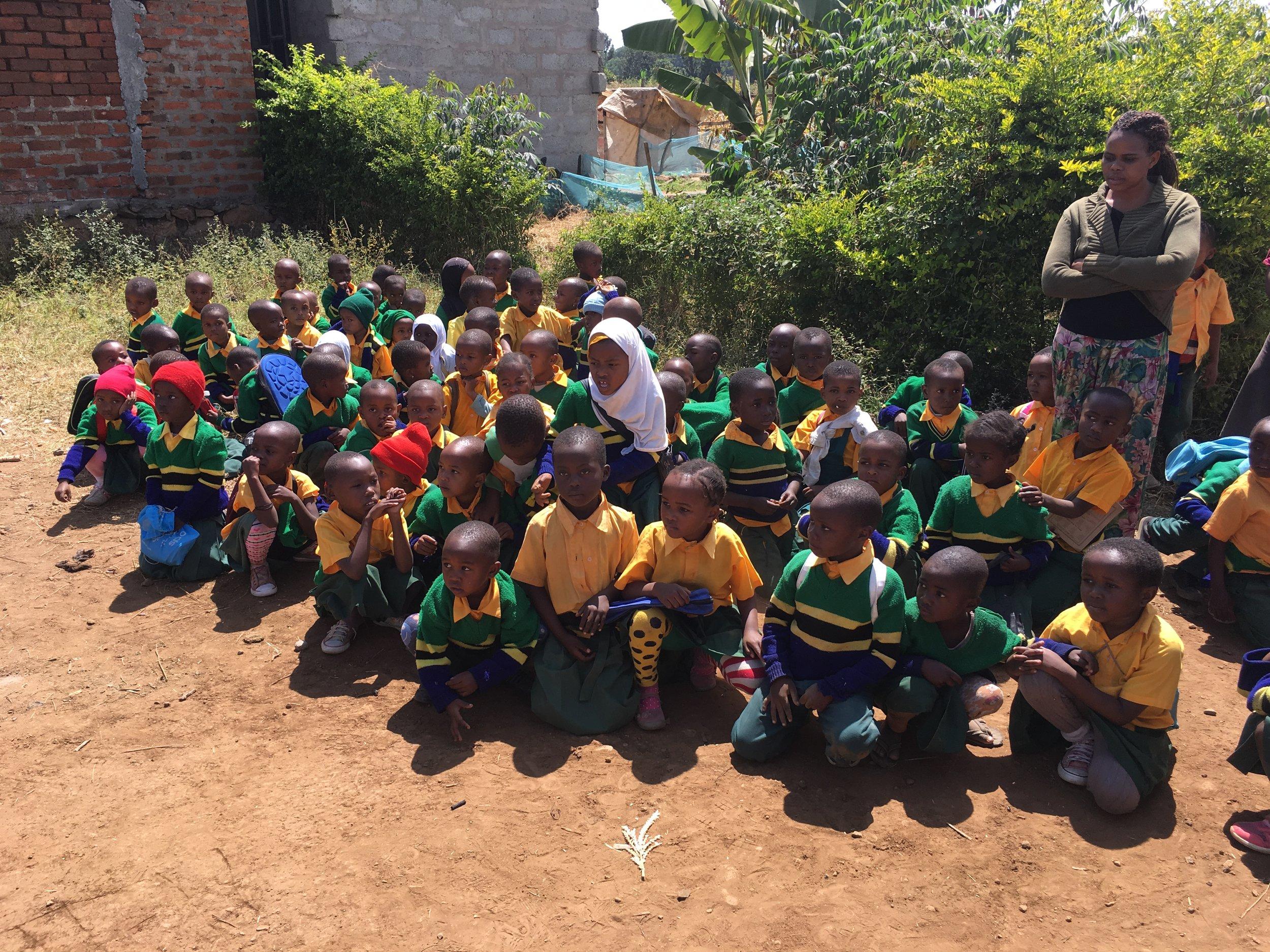 Students at ECCE center in Arusha, Tanzania