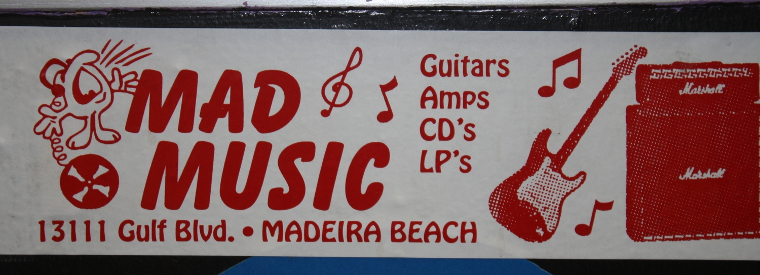 VINTAGE BUMPER STICKER! mad music...serving your music needs since 1996!!!