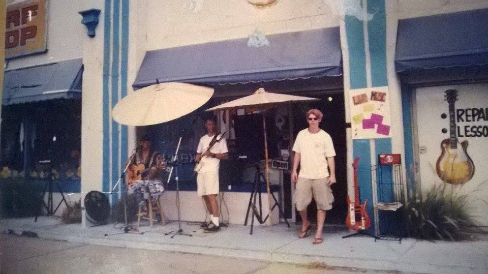 Mad Music's original location next to mad beach surf shop on gulf boulevard in 1996!!