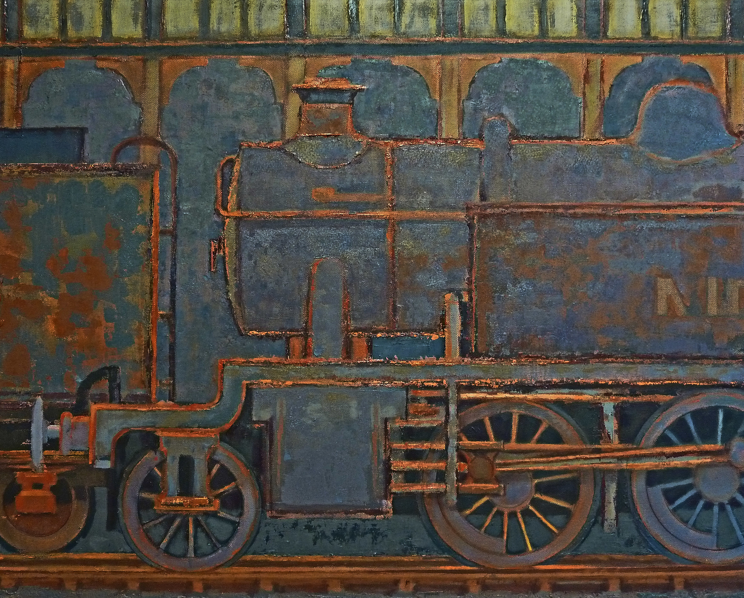 Engine shed Ghosts   oil on canvas  2011  private collection *
