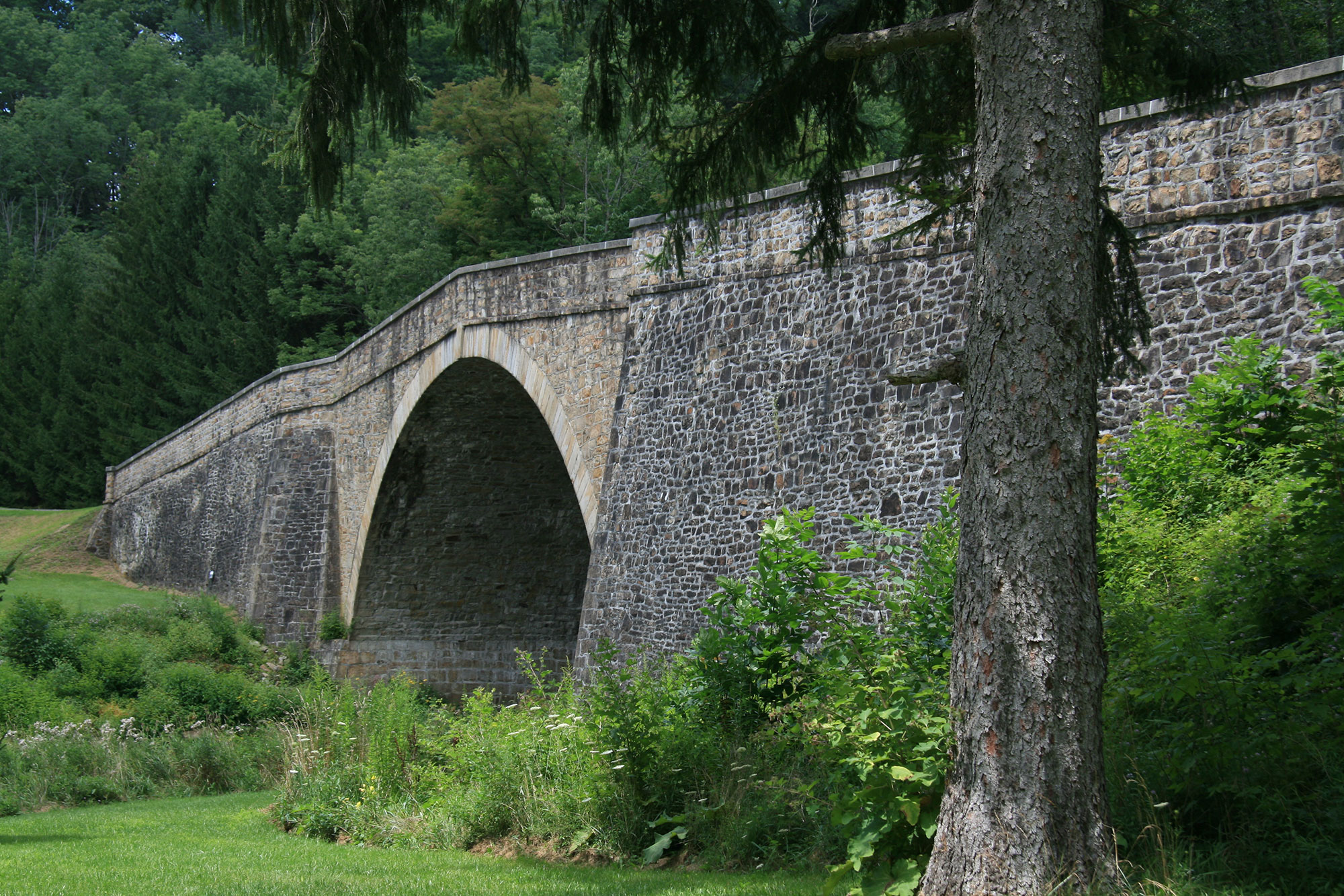 The Casselman Bridge, built in 1811 [National Historic Landmark]
