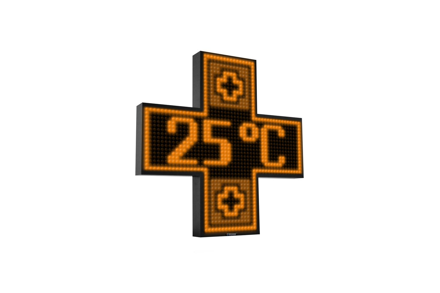 Amber Single Colour Digital LED Pharmacy Cross from Blazin Digital