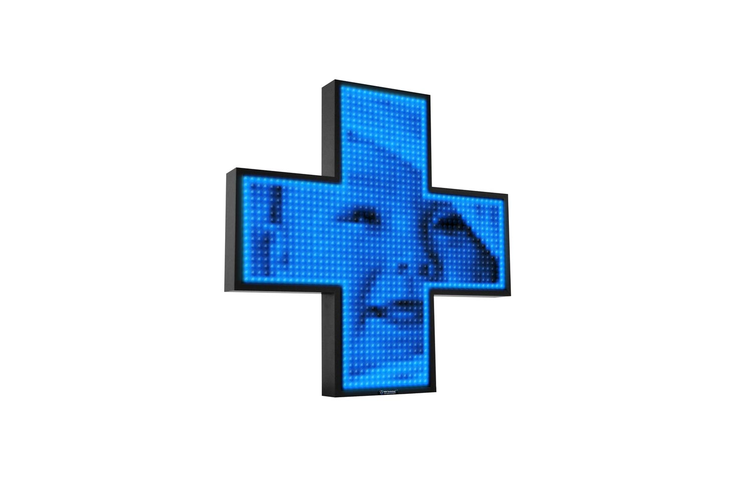 Blue Single Colour Digital LED Pharmacy Cross from Blazin Digital