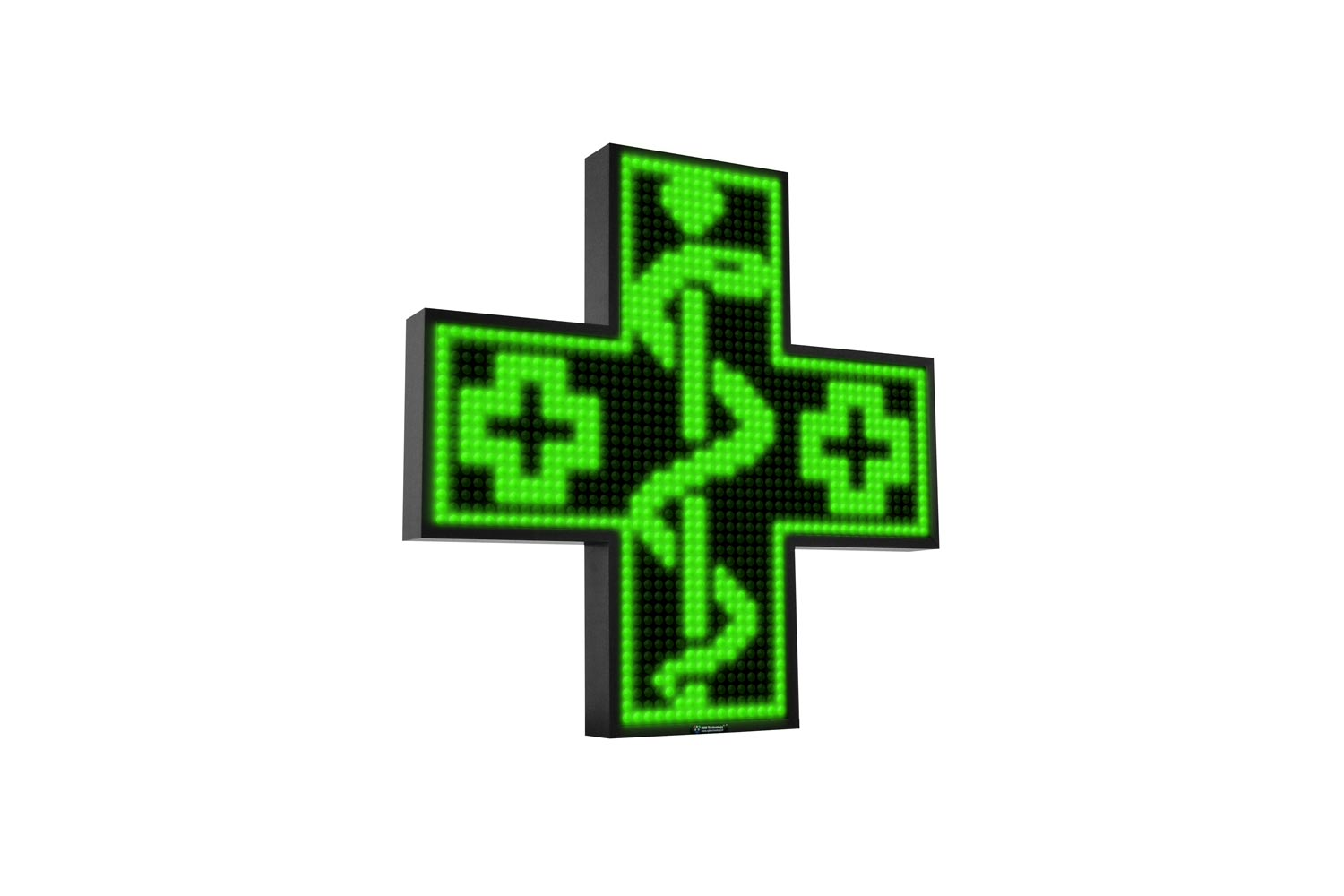 Green Single Colour Digital LED Pharmacy Cross from Blazin Digital