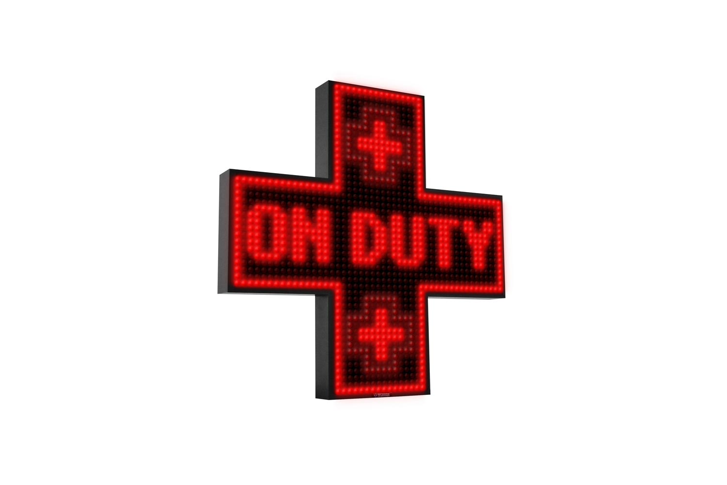 Red Single Colour Digital LED Pharmacy Cross from Blazin Digital