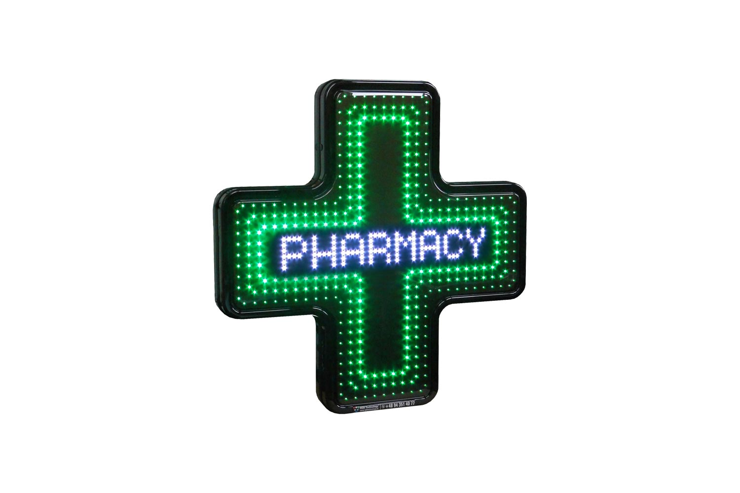 Digital LED Pharmacy Cross from Blazin Digital