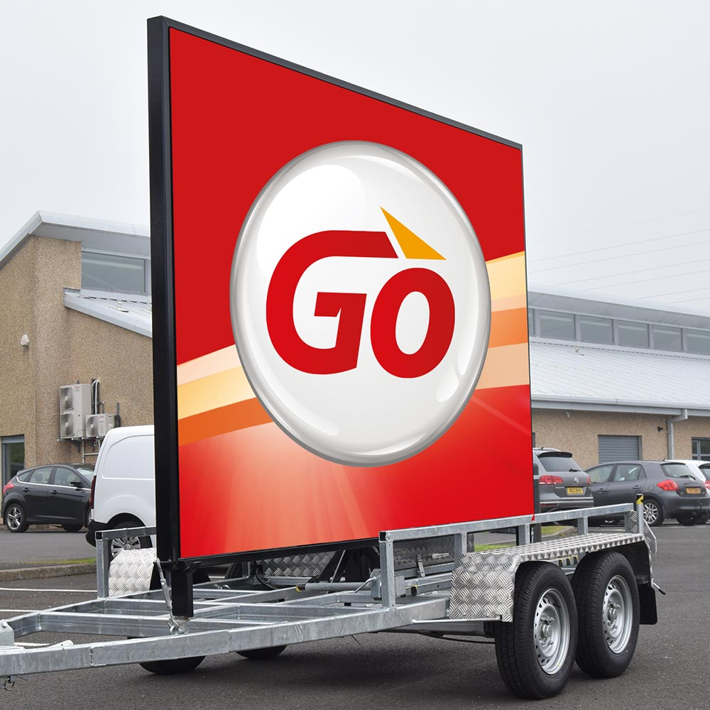 DIGITAL TRAILERS - Arguably the most effective roadside digital advertising product in our range and perfect for multi-site businesses. LED advertising wherever you need it! Our LED digital trailers offer fantastic value for money and a great return on your investment.Click here for more on digital trailers.