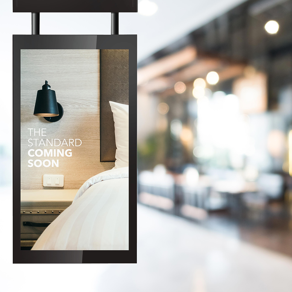 WINDOW DISPLAYS - Brightness is paramount when using outward facing displays. Our window displays are up to six times brighter than a standard home TV allowing easy readability in direct sunlight.  Perfect for storefront windows or outdoor enclosures.Click here for more info on digital window displays.