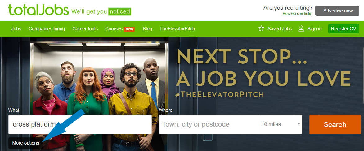 Totaljobs' home page
