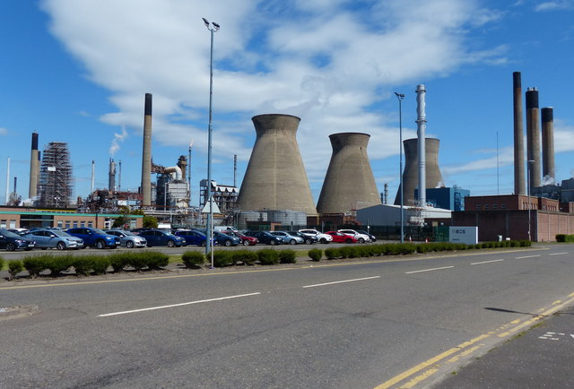 INEOS petrochemical works at Grangemouth