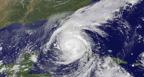 Click here to see the video       of Hurricane Irma move through Florida    from the morning of September 8 through the morning of September 10. The footage was captured by the NOAA's GOES East satellite. Photo/video credit: NASA-NOAA GOES Project.