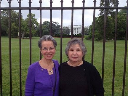 The Warriors:Lynda Everman, left, and KathySiggins storm Washington