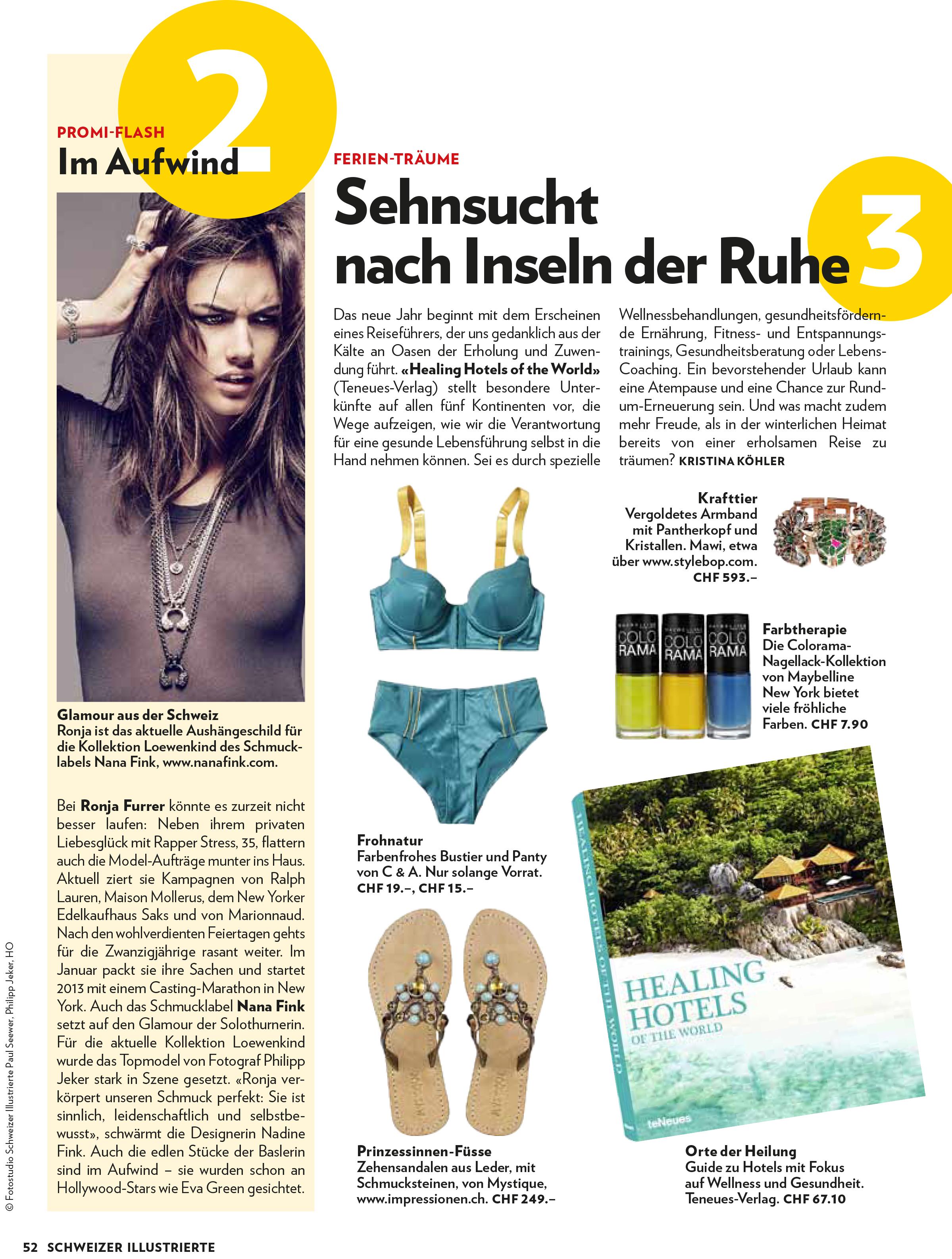 Schweizer Illustrierte, Januar 2013