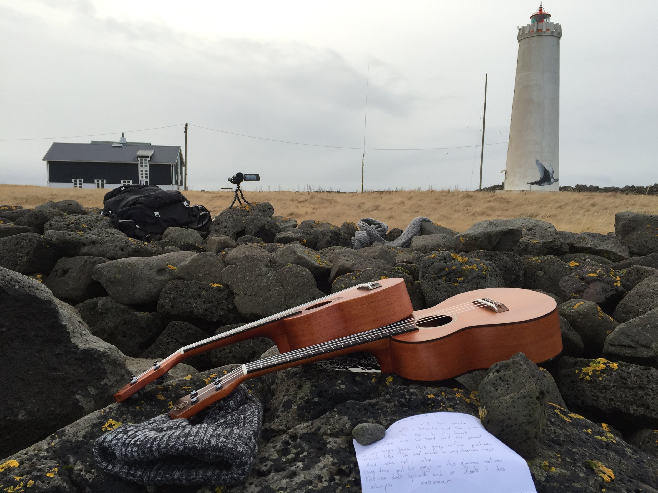 The other side of the Cam; my view as I was singing and dancing on the Icelandic shore