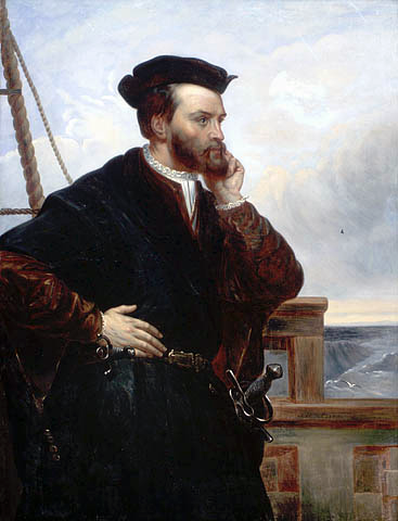Jacques Cartier, remembering his discovery of Québec. Not his actual real face, of which no pictures remain.