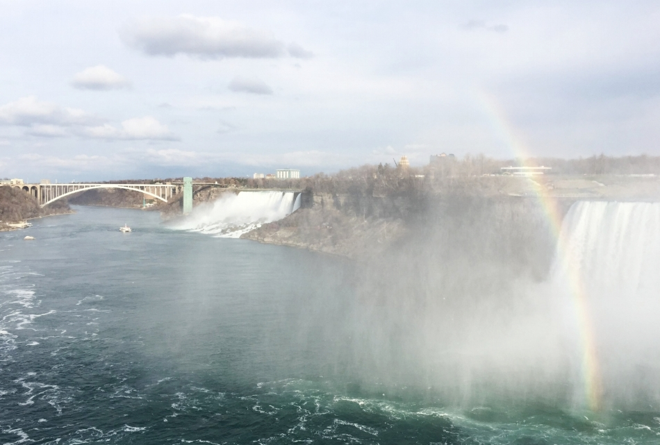 the view to the left of the falls. The other side is the US !