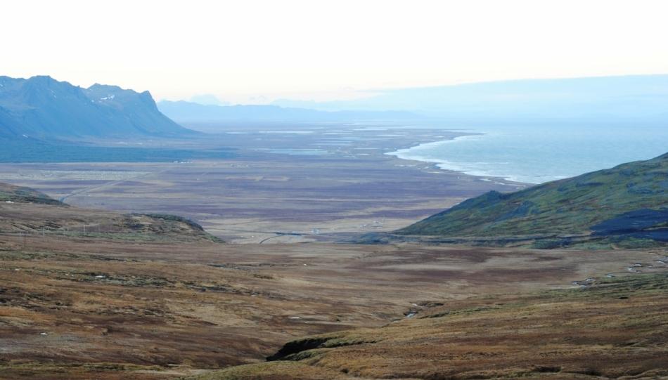 The bare landscape of the Snæfellsnes peninsula,where the Giant Bárður's still roams