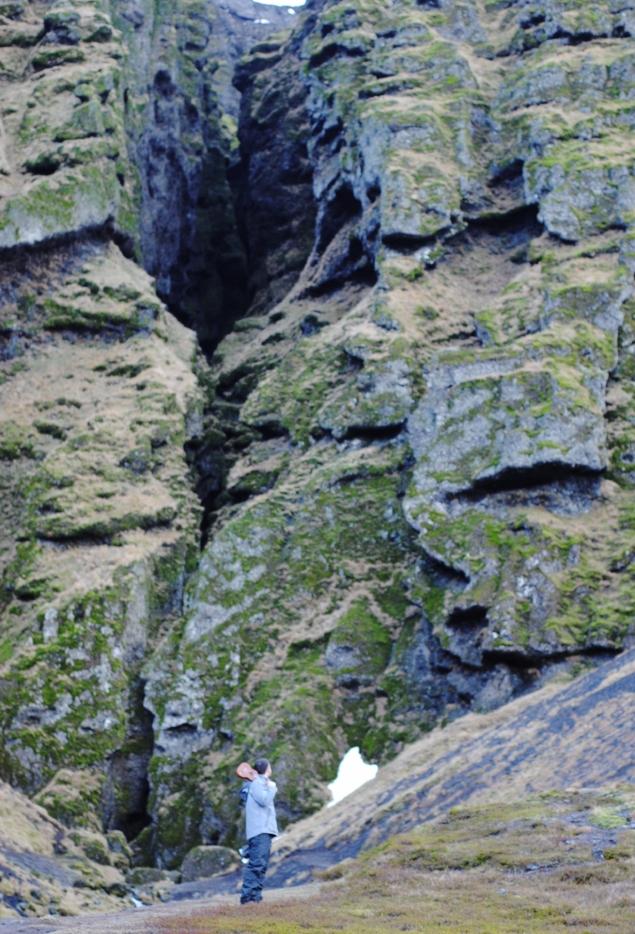 Down by the entrance of 'the ravine of Rauðfeldur'