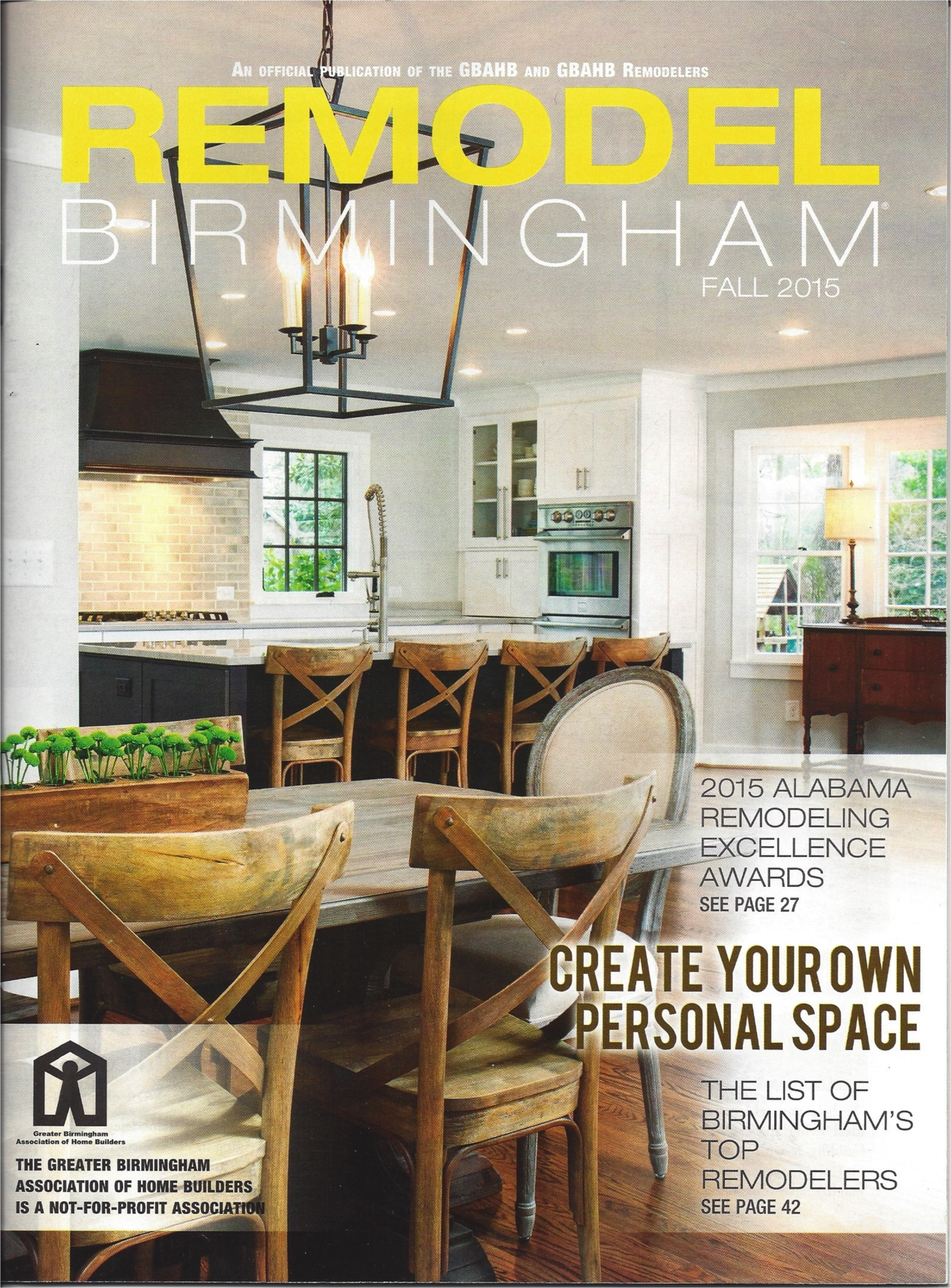 Our contest entry was featured in the Remodel Birmingham publication.