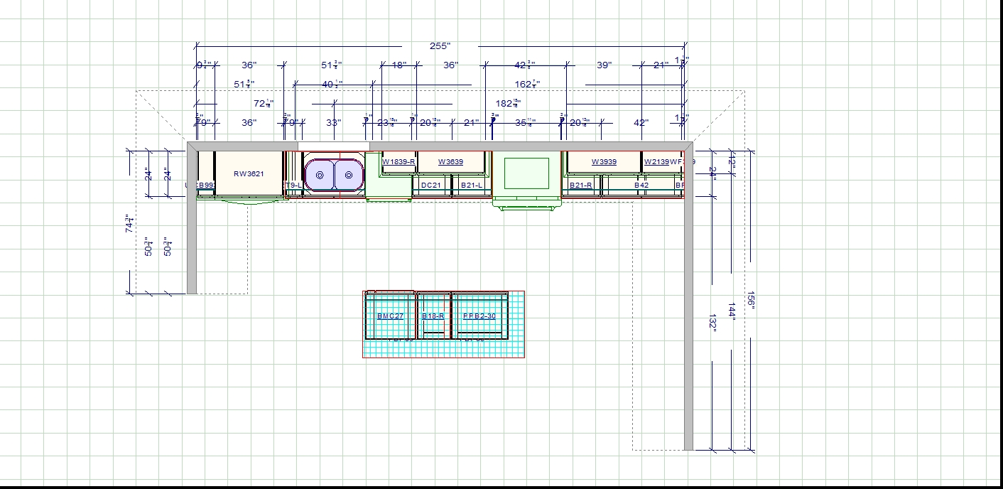 Rendering/drawing of New Layout