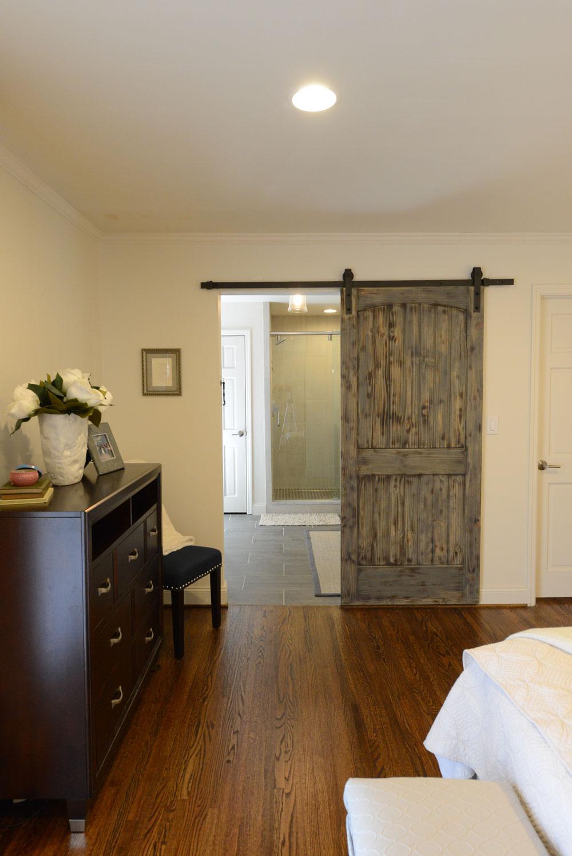 Barn Door to Bathroom