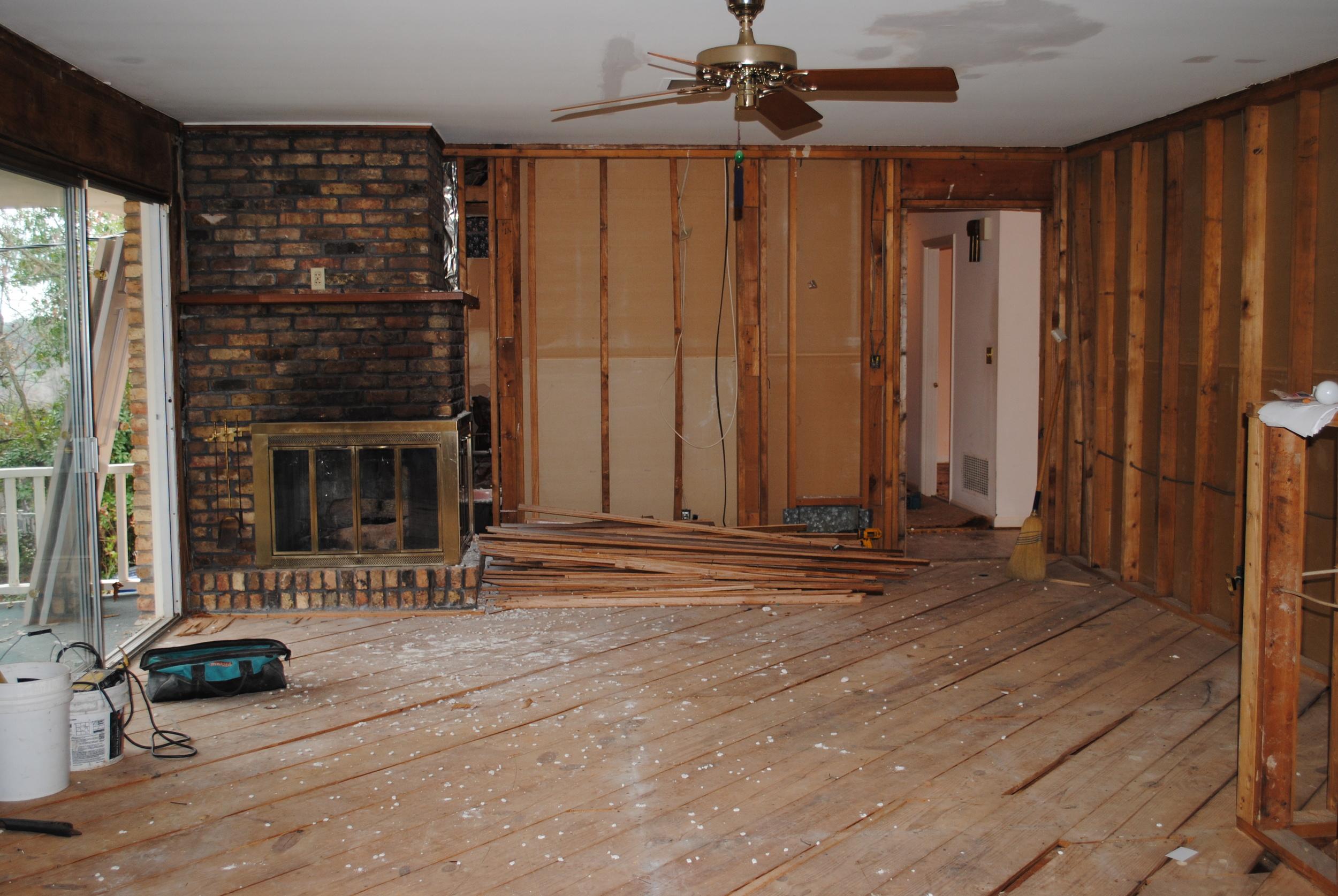 """""""In Progress"""" Family Room"""