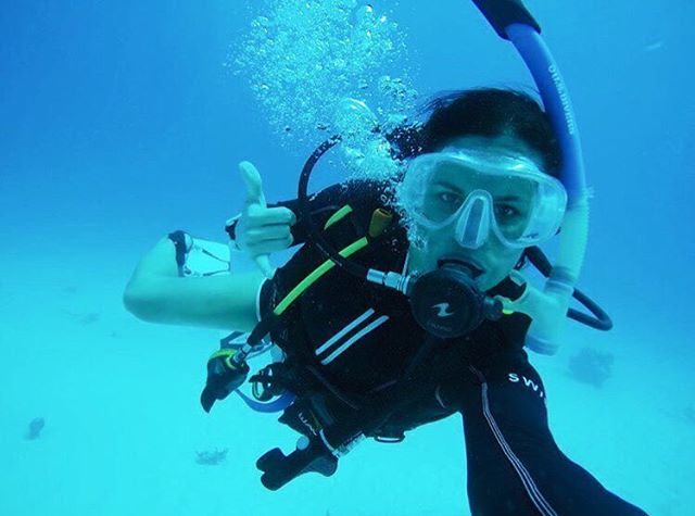 Shaka. Congrats to swish team member @a_couture for completing her #PADI certification!  Complete with an epic #selfie! 🙌🙌 (regram from @a_couture)