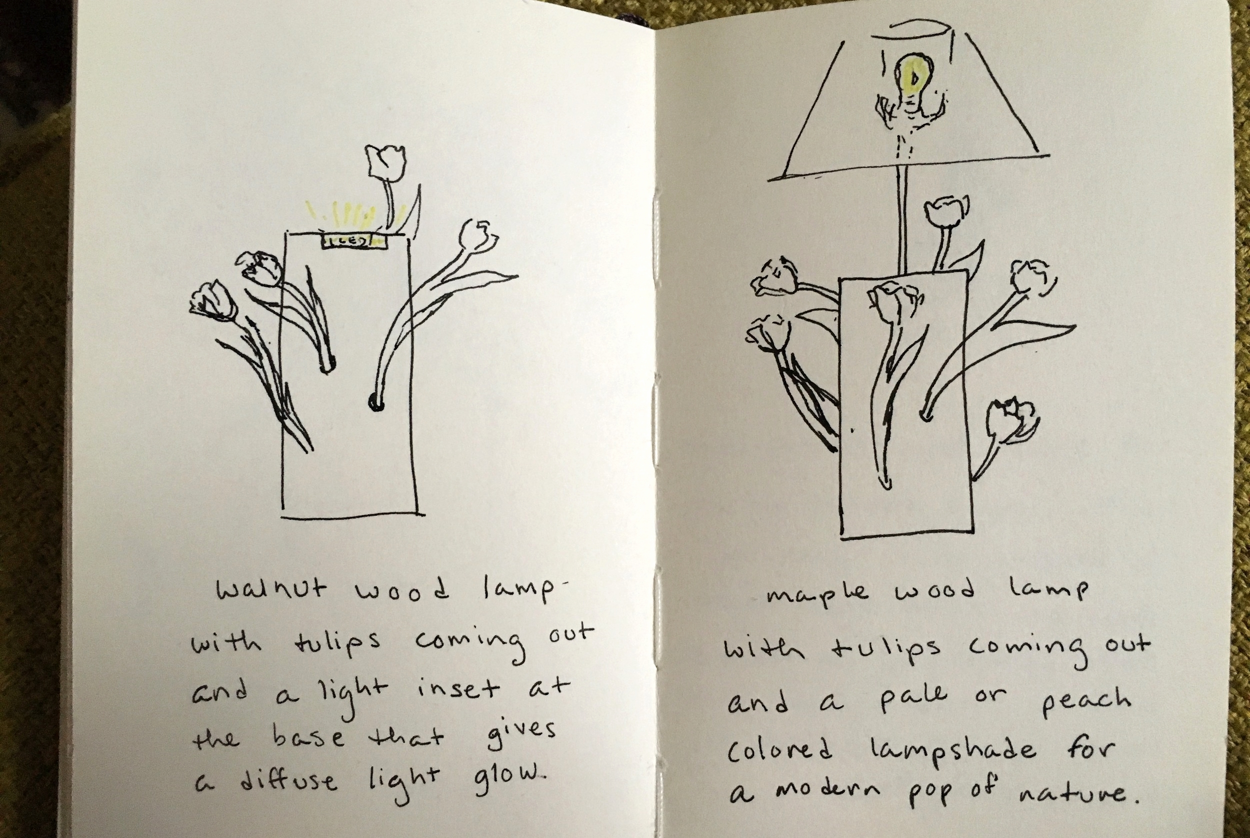 Sketching out some lighting ideas.