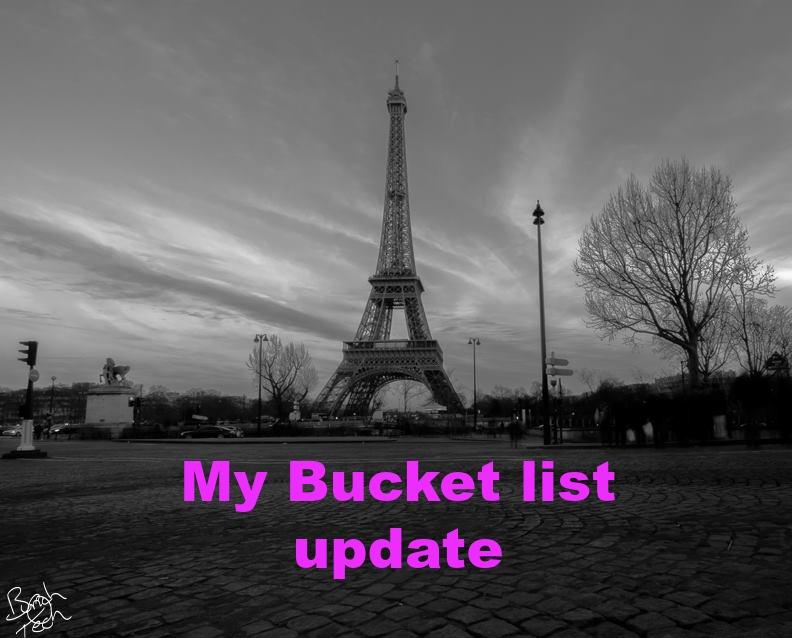 Updated Bucket List
