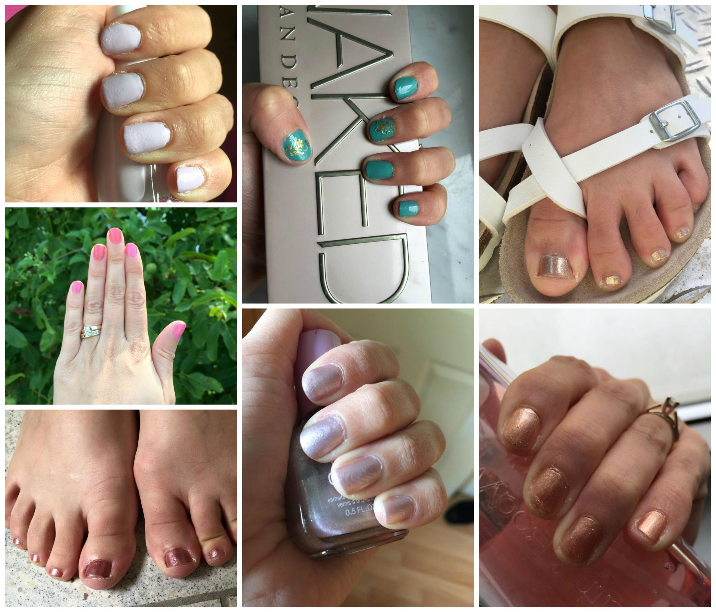 August Monthly Nails and Toes