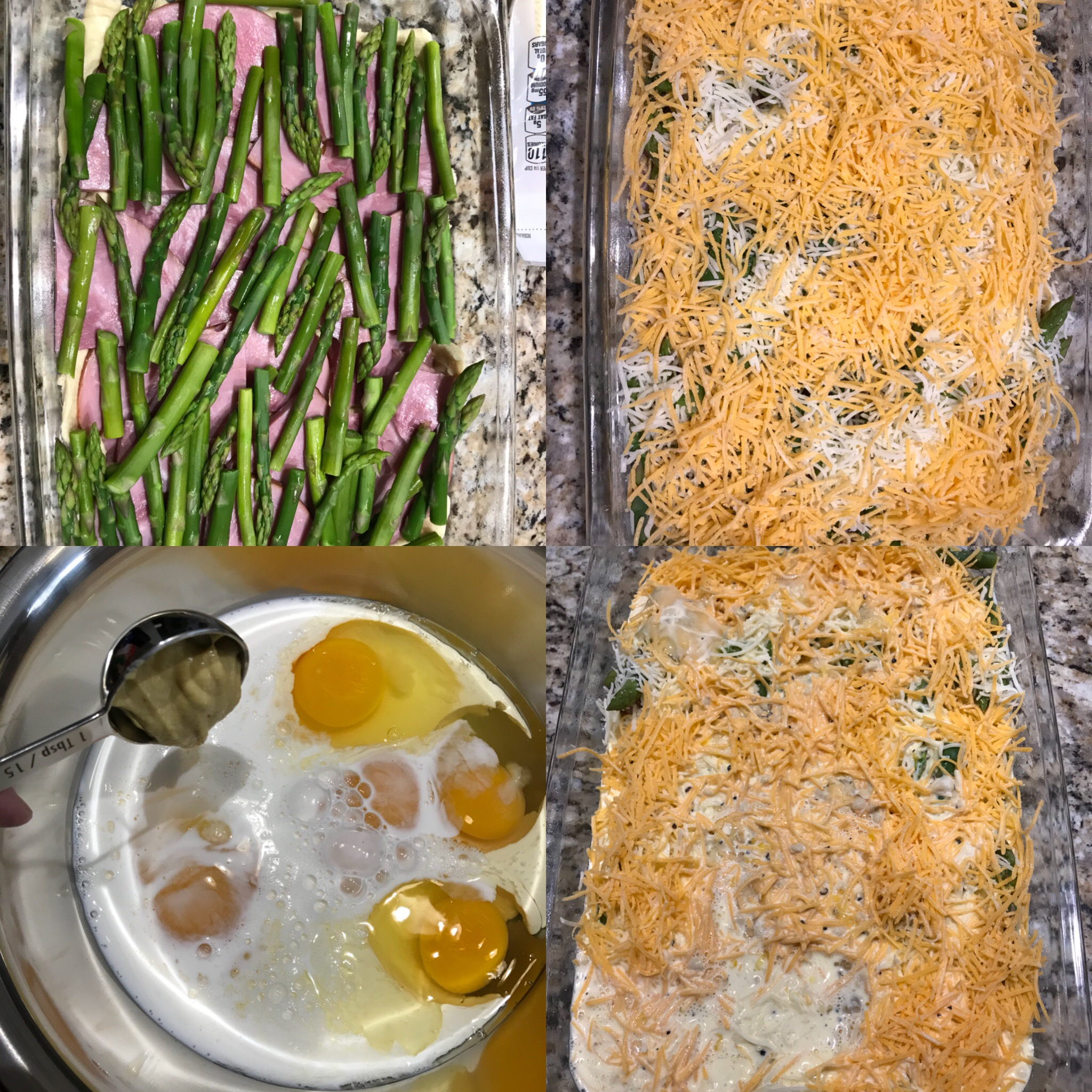 Monthly Recipe: Asparagus, Ham and Cheese Croissant Bake