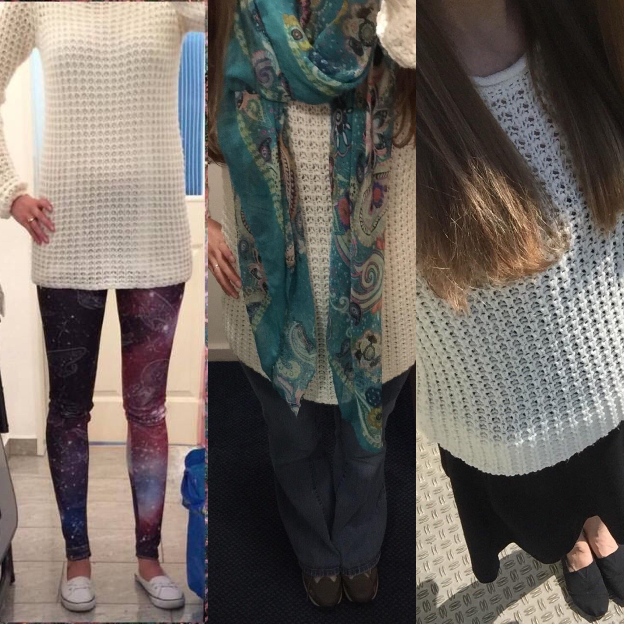 Update Cost Per Wear: White Cable Knit Sweater