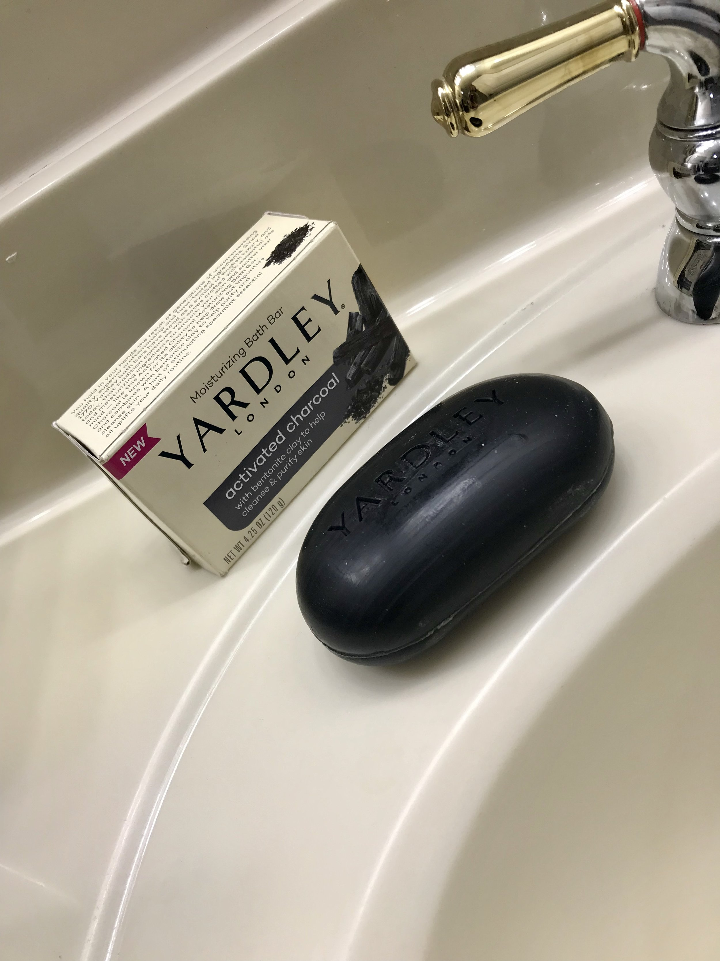 Review: Yardley Activated Charcoal Bath Bar