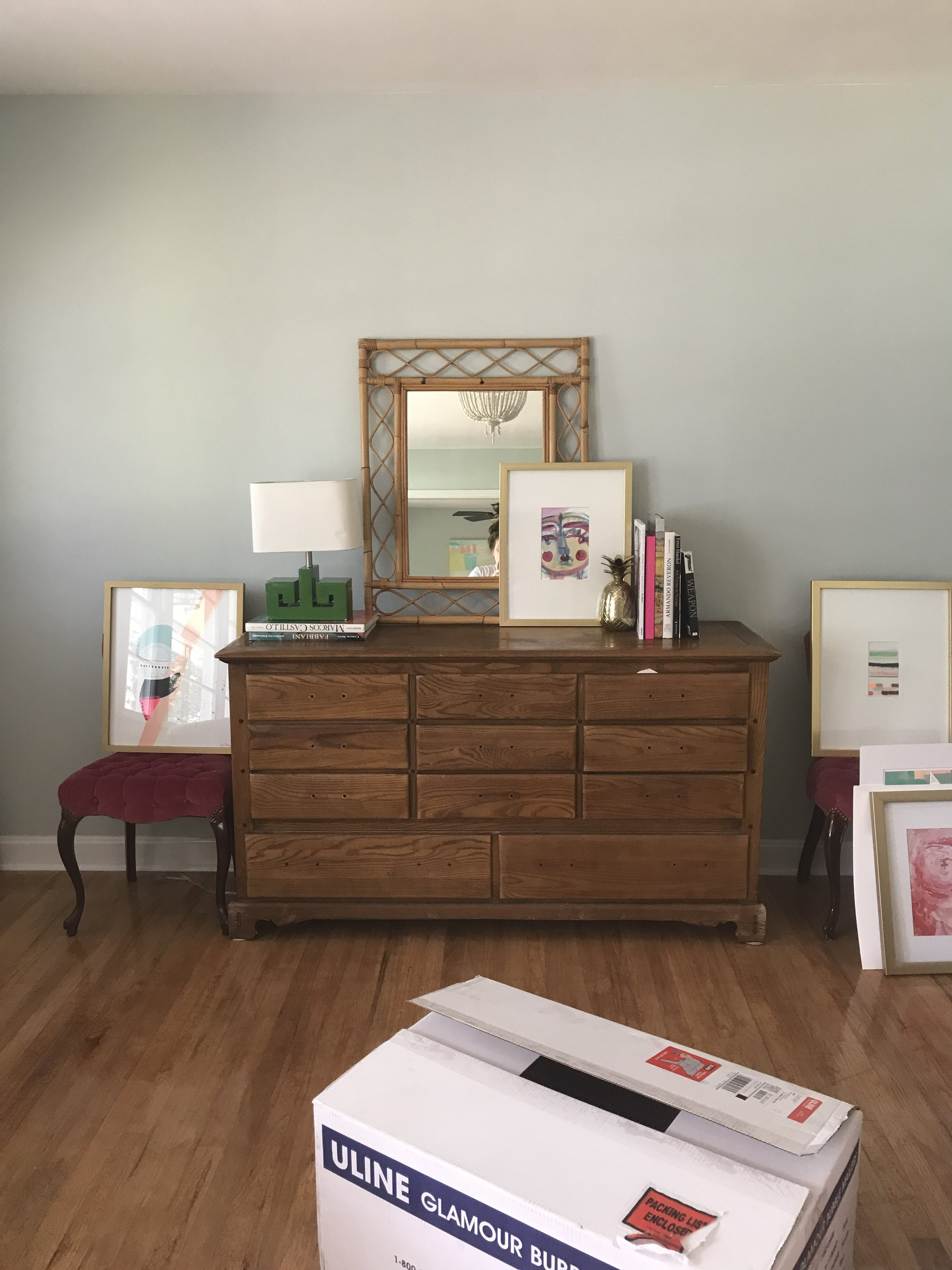 The dresser, before, in it's natural habitat.